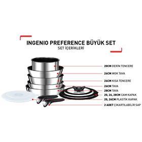 Titanium Ingenio Preference Büyük Tava ve Tencere Seti - 12 Parça